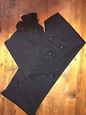 """Nordstrom 100% Wool Scarf Black Flowers Rhinestones 9.5"""" x 67.5"""" Winter"""