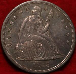 Uncirculated Toned 1843 Philadelphia Mint Silver Seated Liberty Dollar