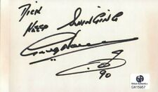 Greg Norman Signed Autographed Index Card PGA Golf Legend Masters GX15957