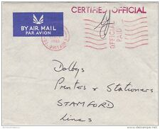 GB QEII 1965 Certified Official Airmail Cover ZZ1166