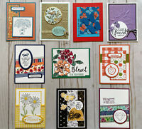 10 Handmade Friendship greeting cards envelopes Stampin' Up! +more