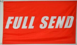FULL SEND Flag 3x5ft Red Background Nelk Boys Nelkboys 3 x 5 Banner New