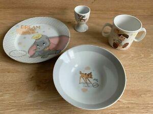 Disney Child Ceramic Stunning Plate Bowl Mug Egg Cup Gift Set New RRP £22