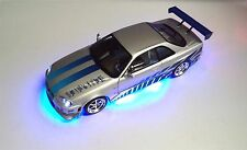 """The Fast and The Furious""  Nissan Skyline Brian GT-R R34 Paul Walker 1/18 Scale"