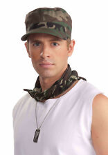 Camouflage Army Hat Green Camo Print Hat Military Adult Size