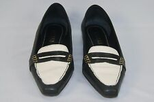 Vintage RALPH LAUREN Women's 2 Tone Leather Pointy Toe Loafers Shoes Size 7 B