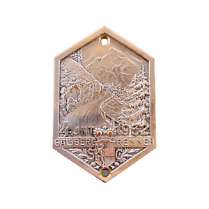 Austria 1932 rallye medal plaque autoplakette Gaisbergrennen