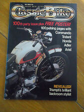 CLASSIC BIKE MAG MAY 1988 100th PARTY ISSUE WITH UNUSED POSTER HONDA ADLER ARIEL