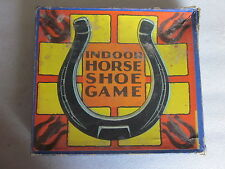 1930's era Milton Bradley Co. Springfield, MA Indoor Horse Shoe Game #4877