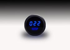 LED Digital WATER TEMPERATURE GAUGE W/ Sender BLUE LEDs BLACK Bezel