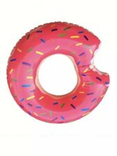 60cm Pink Giant Inflatable Donut Rubber Ring Pool Float Lilo Tube Kids Children