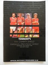 More details for liverpool vs manchester united   charity shield final programme   1990/1991
