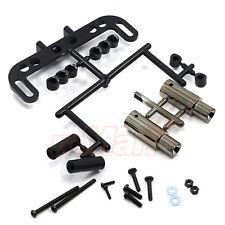 Yokomo Realistic Muffler Set Gun Metal Yokomo Drift Body EP 1:10 RC Car #SD-ACMG
