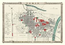 George Bradshaw'S CONTINENTAL Piano della città di Torino 1896 - 1000 Pezzo Puzzle