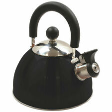 Stainless Steel Whistling Kettle 2.5qt/2.37l Hot Water Tea Stovetop Black