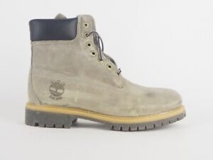 Mens Timberland 6 Inch Anniversary 9663B Grey Leather Lace Up Waterbroof Boots