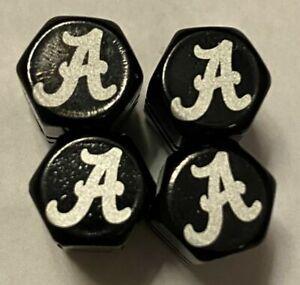 Chrome Engraved Alabama Crimson Tide Tire Valve Stem caps, 4pk, #Bama8