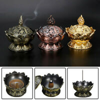 Chinese Lotus Incense Burner Holder Flower Statue Censer Room Decoration LAC-