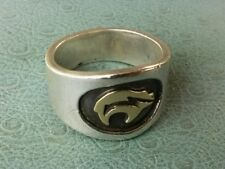 M.M. Rogers Yazzie 14k/Sterling Bear Ring