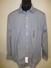 Arrow Cotton Blnd Ink Blue Check Point Long Slve Dress Shirt SR$40 NEW