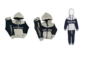 London Souvenir Boys Tracksuit Zipped Top | Cuffed Ankle Bottom | 0 - 16 Years