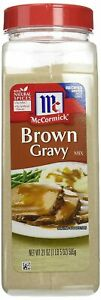 McCormick Brown Gravy Mix 21 oz. - No MSG Or Artificial Flavors - Natural Spices