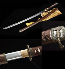 ROSEWOOD ARMY FOLDED STEEL SHARP  HANDMADE JAPANESE SAMURAI KATANA SWORD