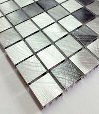 1 Netz 30x30 cm Alu Mosaik 8 mm 24x24 Mosaike Aluminium kein Edelstahl silber