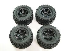 NEW TRAXXAS E-REVO 2.0 VXL 1/10 Wheels & Tires Set Talon EXT Tires 17mm RRE25