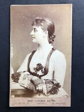 Victorian Carte De Visite CDV: Elliot Fry: Actress Miss Eveleen Rayne: 1878