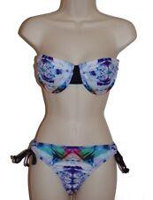Hurley underwire bandeau bikini set size L swimsuit new
