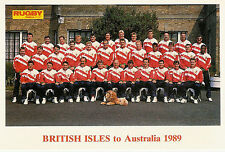 British Lions 1989 TEAM POSTCARD RUGBY WORLD & POST SERIES