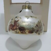 Hallmark Glass 1983 Vintage Keepsake Christmas Ornament Mary Hamilton D6
