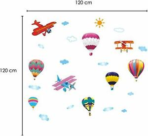 Sky Transport Removable Self-Adhesive Mural Art Decals Vinyl Home Decoration DIY