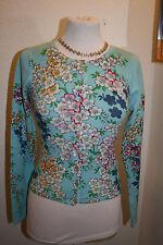 Geblümte taillenlange Damen-Pullover & -Strickware mit Rundhals-Ausschnitt