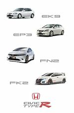 HONDA CIVIC TYPE R Collection - 30x20 Inch canvas incorniciato FOTO EK9 EP3 FN2 FK2