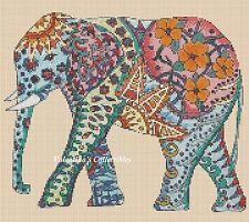 Cross Stitch Chart POP ART ELEPHANT #7-365/1 (Large Print)