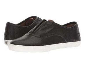 Frye Leather Slip-On Sneakers Maya Black