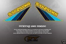 VINTAGE LIKE NOS SUZUKI 1983 RM250 FUEL TANK GRAPHICS