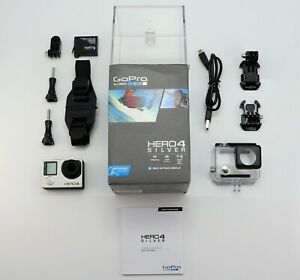 GOPRO HERO 4 SILVER EDITION CAMCORDER BOXED 1080P HD ACTION CAMERA SDXC CARD