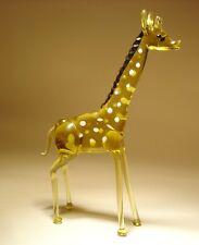"""Blown Glass """"Murano"""" Art Figurine Wild Animal Standing GIRAFFE"""