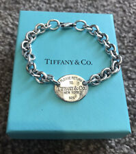 Tiffany And Co Oval Tag Charm Bracelet