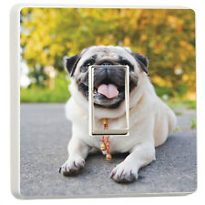 Adorable cute little pug kids girls bedroom light switch cover sticker(4897352)