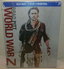 World War Z STEELBOOK Limited Edition (Blu-ray/DVD/Digital, 2018) - New Sealed