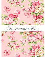 Floral Vintage Style 16 Invitations Birthday Party Chic Invites Girls Tea Party