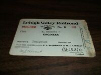 1949-1950 LEHIGH VALLEY RAILROAD EMPLOYEE PASS #23