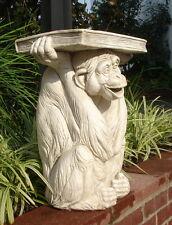"""20"""" Monkey Holding Book Sculpture Statue Column Pedestal Home Garden Decor"""