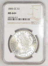 1885-CC NGC & CAC MS64+ Morgan Silver Dollar