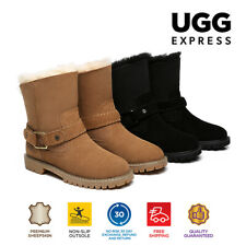 【EXTRA15%OFF】Ugg Fashion Boots Australian Sheepskin Wool Shearling Style Sarah