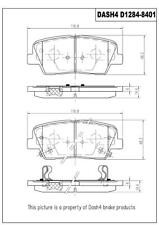 Disc Brake Pad Set-VIN: E Rear Dash 4 Brake CD1284